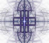 Illustrations Psychedelic Fractal Futuristic  Geometric Colorful Ornament poster