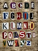 stock photo of alphabet letters  - This background is good for many designs - JPG