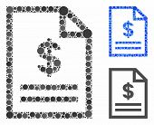 Invoice Page Mosaic Of Filled Circles In Various Sizes And Color Tones, Based On Invoice Page Icon.  poster