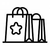 Bonus Shop Bag Icon. Outline Bonus Shop Bag Vector Icon For Web Design Isolated On White Background poster