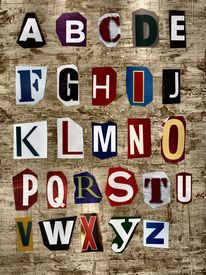 image of alphabet letters  - This background is good for many designs - JPG