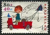 NETHERLANDS - CIRCA 1999: A stamp printed in Netherlands shows image of the Pluk van de Petteflet Du