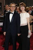 LOS ANGELES, CA - FEB 24: Christoph Waltz, Judith Holste  at the 85th Annual Academy Awards on Febru