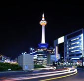 KYOTO - NOVEMBER 21: Kyoto Tower November 21, 2012 in Kyoto, JP. TH tower is the tallest in Kyoto at