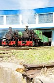stock photo of former yugoslavia  - steam locomotives in depot - JPG