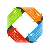 image of process  - Four steps process arrows  - JPG