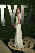 WEST HOLLYWOOD, CA - FEB 24: Allison Williams at the Vanity Fair Oscar Party at Sunset Tower on Febr