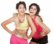 Giggling Workout Girls