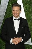 WEST HOLLYWOOD, CA - FEB 24: Jeremy Renner at the Vanity Fair Oscar Party at Sunset Tower on Februar