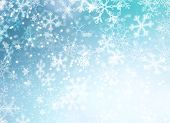 Winter Holiday Snow Background. Christmas Abstract Backdrop with Snowflakes