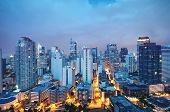 stock photo of luzon  - Eleveted night view of Makati the business district of Metro Manila - JPG