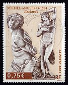 Postage Stamp France 2003 Slaves, Sculptures By Michelangelo