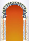pic of front-entry  - Vector illustration of high detailed floral arch in EPS10 format - JPG