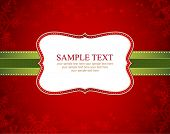 stock photo of damask  - Vector Christmas Frame and Background - JPG