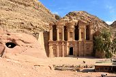 stock photo of petra jordan  - Petra capital of ancient Nabatean nation in Jordan - JPG