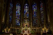 image of damme  - Inside of the Notre-Damme Cathedral