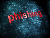 Safety concept: Phishing on digital background