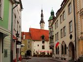 stock photo of wane  - Old city Tallinn Estonia - JPG