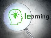 Education concept: Head With Lightbulb and Learning