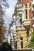 pic of bonnes  - facade of old houses in Bonn on a sunny day - JPG