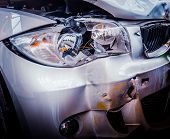 pic of bender  - Detail Of The Front Of A Luxury Car That Has Crashed - JPG