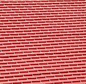 stock photo of red roof tile  - Red metal tiles on a roof texture - JPG