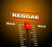 stock photo of reggae  - Reggae Music Showing Sound Track And Graphic - JPG