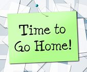 image of bye  - Time to Go Home Meaning See You Later And Bye - JPG