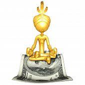 Постер, плакат: Золотой парень Джинн на деньги волшебный ковер