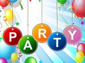 image of youngster  - Party Kids Indicating Celebrations Fun And Youngster - JPG