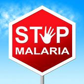 stock photo of malaria parasite  - Stop Malaria Representing Warning Sign And No - JPG