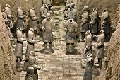 picture of qin dynasty  - Terracotta warriors in armor - JPG