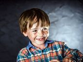 foto of laughable  - Emotional portrait of red-haired boy attractive for advertising ** Note: Shallow depth of field - JPG