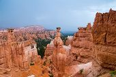pic of hoodoo  - Sandstone hoodoos of Bryce Canyon National Park Utah USA - JPG