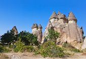 pic of phallic  - Rock formations in Cappadocia Turkey  - JPG