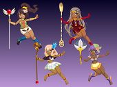 picture of scepter  - Cute Girls Hold Scepter in Her Hand - JPG