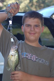 picture of crappie  - First catch - JPG