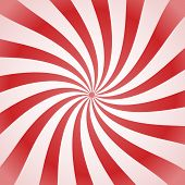 foto of lollipops  - abstract background repeating white and red spiral candy lollipop - JPG