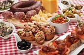 image of buffet  - Tapas or antipasto food - JPG