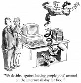 picture of cartoon people  - Cartoon of desk chair popping businessman into the air - JPG