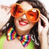 picture of lolita  - funny woman wearing big bright sunglasses - JPG