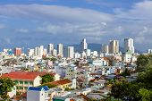 image of suburban city  - Vietnam nha trang city panorama - JPG