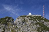 pic of bavarian alps  - Research station and observatory on the summit of a mountain in the bavarian alps - JPG