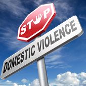 pic of abused  - domestic violence abuse or aggression within marriage against partner wife or children - JPG