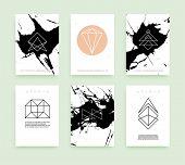 stock photo of geometric  - Set of Business Card Templates - JPG