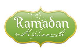 stock photo of ramadan mubarak card  - Ramadan greetings in english script - JPG