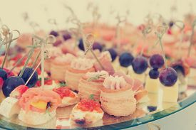 stock photo of banquet  - Meat - JPG