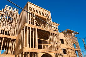 image of 2x4  - Wooden framing for construction of new condominiums - JPG