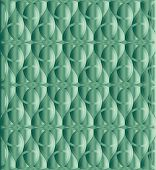 stock photo of triquetra  - Caribbean green celtic knot triquetra background for design process - JPG