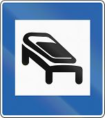 stock photo of sleeping bag  - Icelandic traffic sign  - JPG